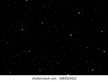 Abstract background with stars as template or design element for starry night or science space card