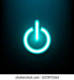 abstract background of Start power button neon light,On/Off switch,vector illustration