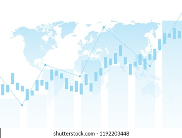 Abstract background stock market and exchange. Stock market data. Vector illustration