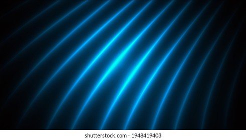 abstract background with striped glowing blue texture, silk waves drapes imitation effect