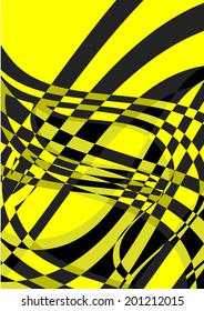 Abstract background with stripes. Vector.