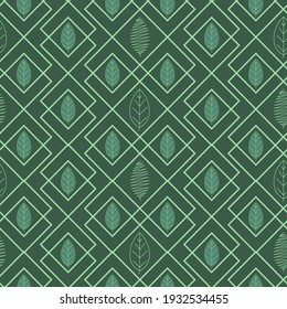 Abstract background with stylized deciduous motif.