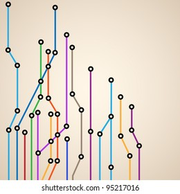 Abstract background of a subway map.Vector eps10