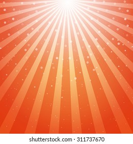 abstract background with Sun Rays and Bubbles Vector