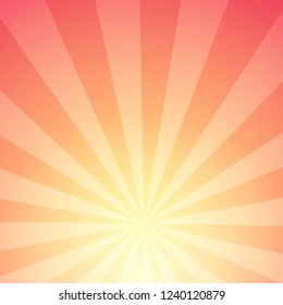 Abstract background of Sunlight with Stripes. Glow with radial rays of star.