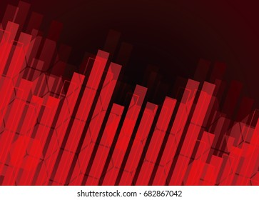 Abstract background of technology. Bar chart-like vector. Digital futuristic minimalism.
