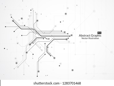 Abstract background with technology circuit board texture. Electronic motherboard illustration. Communication and engineering concept. Vector illustration