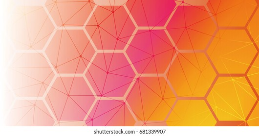 Abstract background. Technology polygonal design. Digital futuristic minimalism. Vector