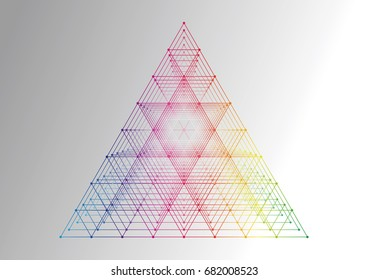 Abstract background. Technology polygonal design. Digital futuristic minimalism.