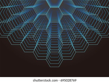 Abstract background of technology. It is a vector. Digital futuristic minimalism.