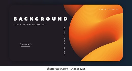 Abstract Background Template, 3D Gradient Shapes Composition, Multi Purpose Poster or Landing Page Design - Vector Illustration