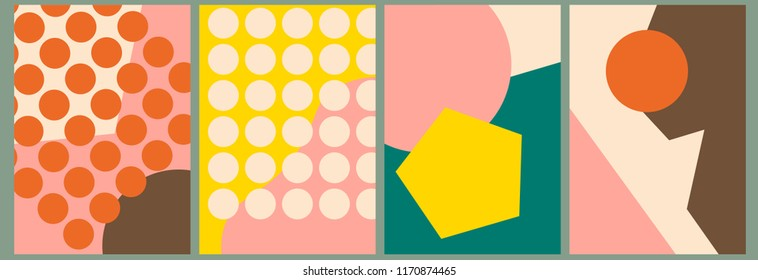 Abstract background, template, artistic covers design, colorful texture. Trendy pattern, graphic poster, geometric brochure, card. Vector illustration.