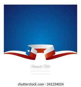 Abstract background Texas flag ribbon