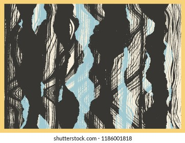 Abstract Background With Torn Paper And Grunge Textures. Vector illustration.