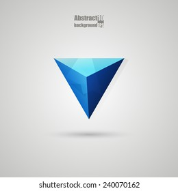 Abstract  background with triangle. Eps10 Vector illustration