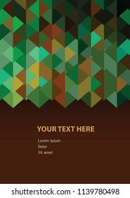 Abstract background triangle pattern with headline