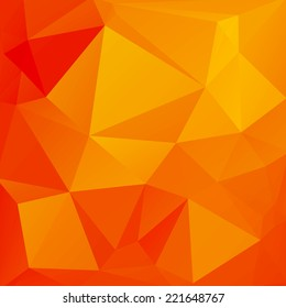 Abstract background of triangles. The bright orange color