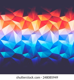 Abstract background with triangles and color glow