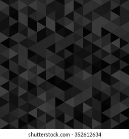 abstract background of triangles -vector illustration. The black background of the hexagon.