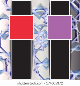 abstract background with two squares