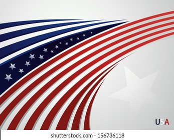 Abstract background USA patriotic design with a stylized eagle's head