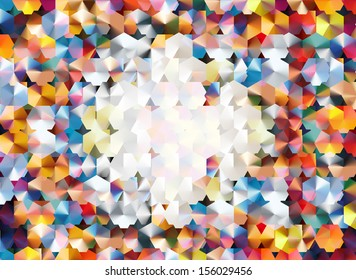 """abstract background using two layers of hexagonal grids and blending modes to achieve a """"confetti-like"""" effect"""