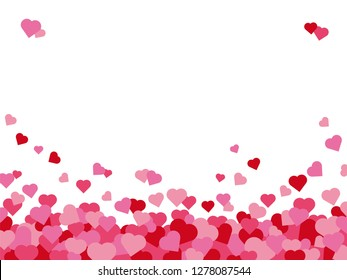 Abstract background for Valentines Day greetings with hearts border and copy space