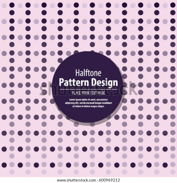 Abstract Background  Vector Halftone Purple Circle