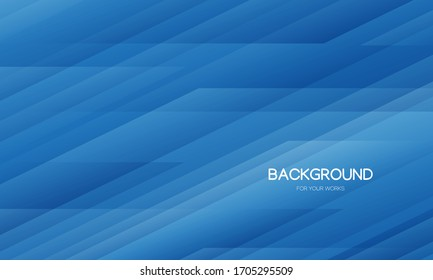 Abstract background vector illustration. Blue gradient with transparent geometric shape.