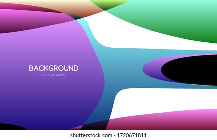 Abstract background vector illustration. Colorful geometric shapes composition.