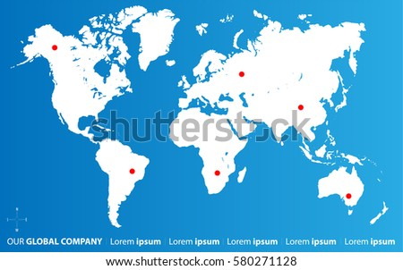 Map Of The World With Compass.Abstract Background Vector Illustration Map World Stock Vector