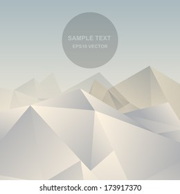 Abstract background vector. Abstract mountain vector. Polygon mountain vector.
