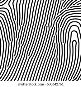 Abstract background of vector organic irregular lines print pattern. Black and white chaotic design
