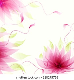 Abstract background with vector pink lotus flower