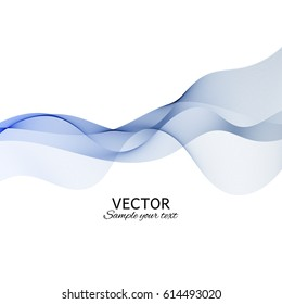 Abstract background. Vector. Red waves. Wavy lines.