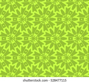 Abstract background. Vector seamless pattern. Green geometric seamless pattern in modern stylish