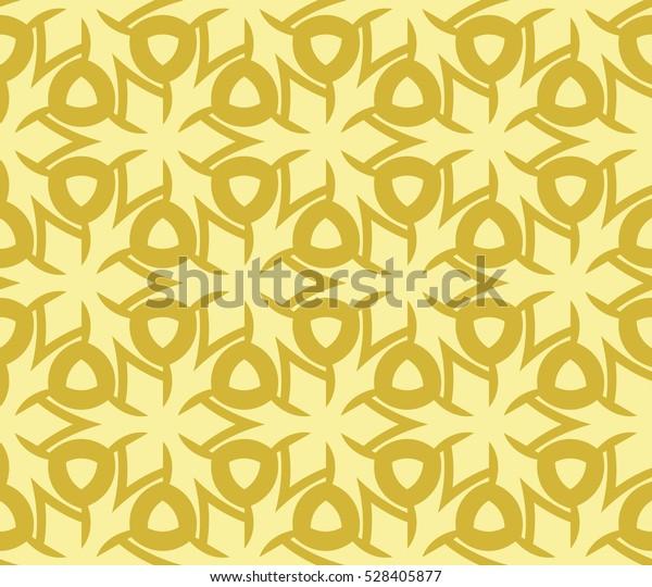 Abstract background. Vector seamless pattern. Yellow geometric seamless pattern in modern stylish