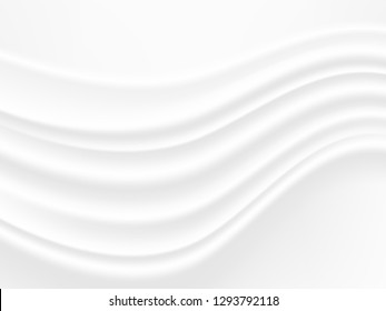 abstract background vector white and gray tone, wave overlapping with shadow modern concept, space for text or message web and book design
