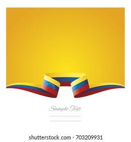 Abstract background Venezuela flag ribbon