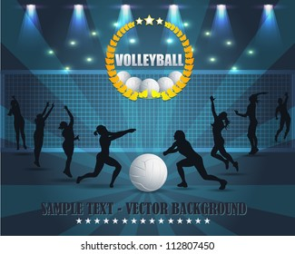 Abstract Background Volleyball Vector Design