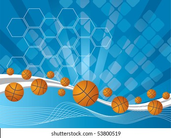 abstract background and Volleyballs