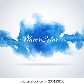 Abstract Background with Watercolor banner, vector illustration