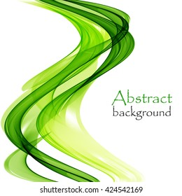 Abstract background with wave green