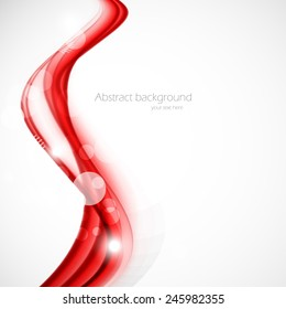 Abstract background in wavy style with circles