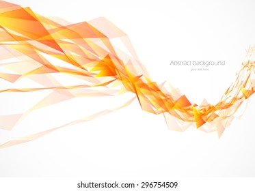 Abstract background in wavy style with polygons vector illustration