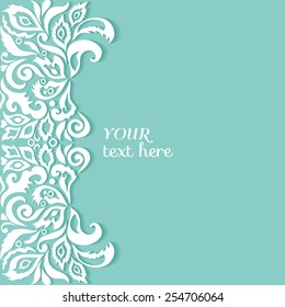 Abstract background, wedding invitation or greeting card design with floral pattern, beautiful luxury postcard, ornate page cover, ornamental vector illustration