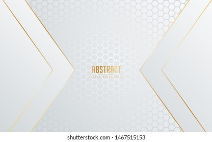 abstract background white and grey color with line golden color. minimal modern Eps 10