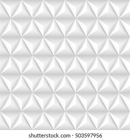 Abstract background with white pyramids. Vector illustration.