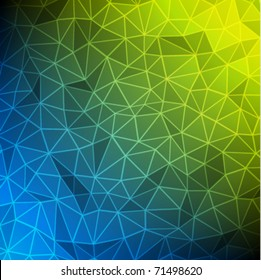 Abstract background wireframe polygonal 3d triangles shapes effect