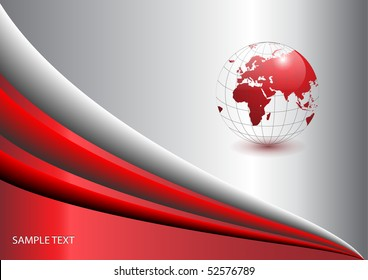 Abstract  background with world globe, vector.